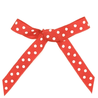 Ribbon Red Dots 1 cm