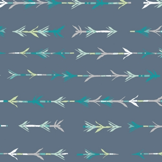 Art Gallery Fabrics Bamboo Shoots in Cool Blue