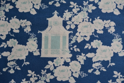 Tanya Whelan Gazebo Toile Mint Navy