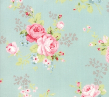 Amberley by Brenda Riddle for Moda Floral Bouquet in Hometown Sky