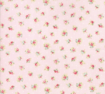 Amberley by Brenda Riddle for Moda Little Rose Polka Dot Peony Pink