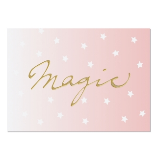 Postkarte Din A6 Magic - gold
