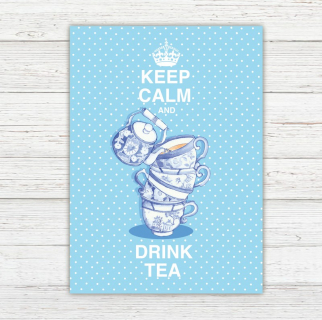 Postkarte Keep Calm and Drink Tea