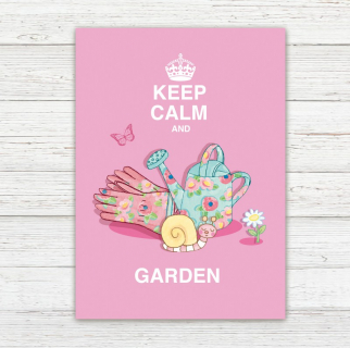 Postkarte Keep Calm and Garden