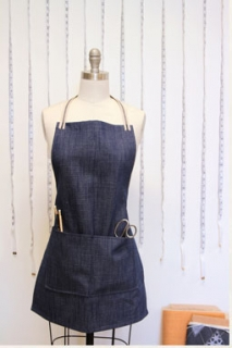 The Denim Studio Uni Mittelblau