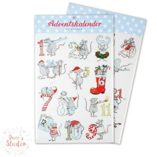 Adventskalender Sticker Mäuse