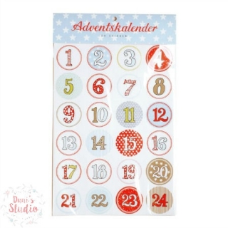 Adventskalender Sticker Zahlen