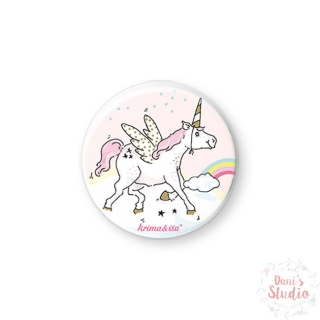 Button Badge Unicorn