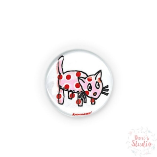 Button Badge Funny Cat