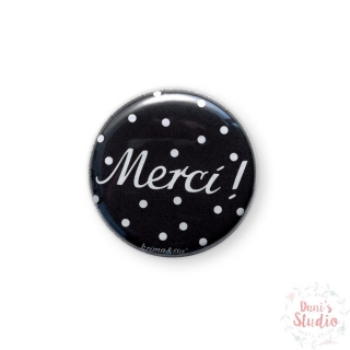 Button Badge Merci