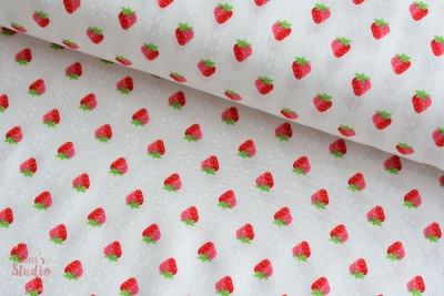 Pam Kitty Garden Strawberries White