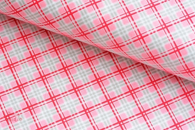 Pam Kitty Farmer's Market Plaid Red EUR 17,80/m