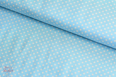 Lecien Color Basics Polkadots Sky Blue