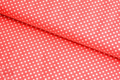 Lecien Color Basics Polkadots Bright Red