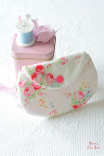 Cute handmade pouch shabby chic floral