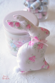 Decorative Bunny Pastel Pink Floral