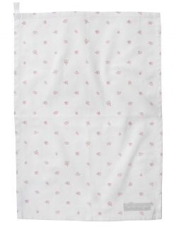 Rose and Stripes Tea Towel