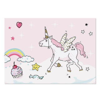 Postcard A6 Unicorn Pink