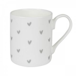 Hearts mug in Grey