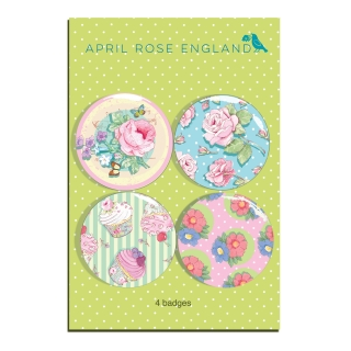 Button Set Couture Rose Floral