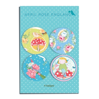 Button Set Fairy Floral