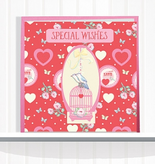 Greeting Card Special Wishes with Love