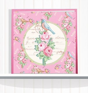 Greeting Card Dreambird Pink