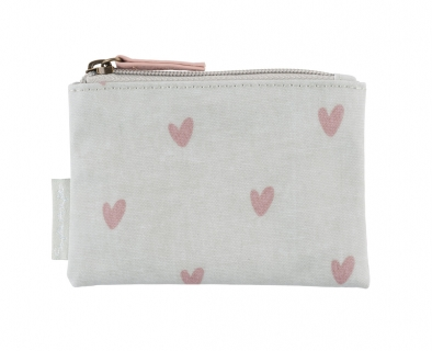 Coin purse pink hearts