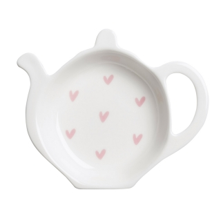Tea bag Tidy with pink hearts